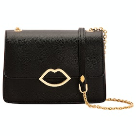 Lulu Guinness Cut Out Lip Polly Women's Handbag - Black