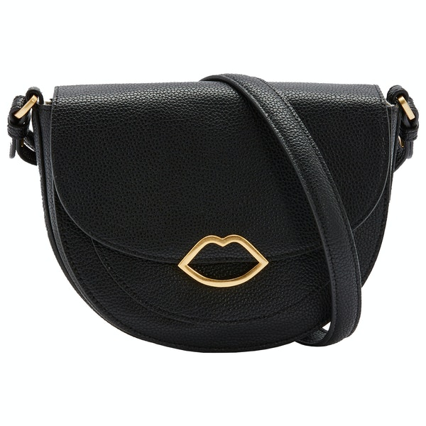 Lulu Guinness Medium Cut Out Lip Esme Saddle Dame Håndtaske