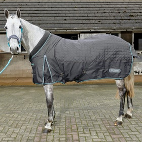John Whitaker Ottowa Premium 200g Fleece Lined Stable Rug - Grey Aqua