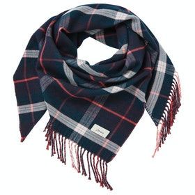 Joules Wilstow Ladies Scarf - Navy Teal Check