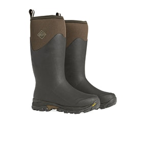 Muck Boots Arctic Ice Vibram Grip Tall Wellington Boots - Brown