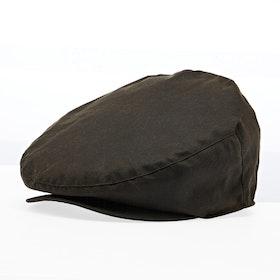 Barbour Sylkoil Wax Flat Men's Cap - Olive