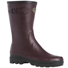 Le Chameau Giverny Jersey Lined Bottillon Ladies Wellingtons - Cherry