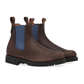 Penelope Chilvers Nelson Contrast Leather Chelsea Women's Boots - Brown/Blue