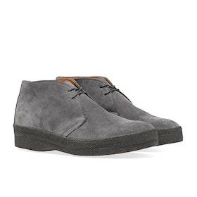 Sanders Sole Foxing High Top Chukka Men's Boots - Grey Suede