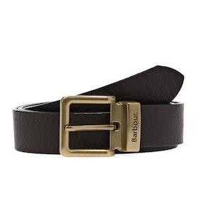 Barbour Blakely Men's Leather Belt - Dark Brown