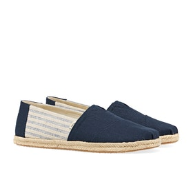 Toms Canvas Rope Sole Espadrilles - Blue