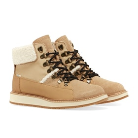 Toms Mesa Hiker Women's Boots - Waterproof Desert Tan Suede Leather