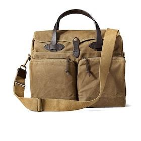 Filson 24-Hour Tin Briefcase Men's Messenger Bag - Dark Tan