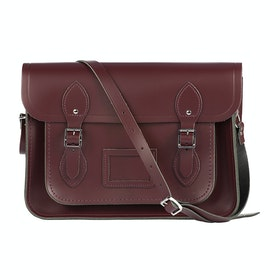 The Cambridge Satchel Company 13 inch Satchel with Magnetic Closure Handbag - Oxblood