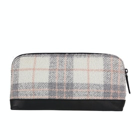 Country Attire Croydon Women's Make Up Bag - Grey And Pink