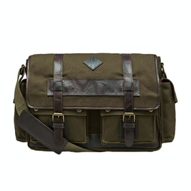 Country Attire Barnet Messenger Bag - Khaki