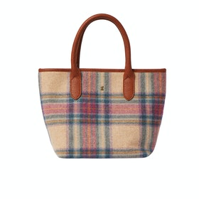 Borsa a Mano Donna Joules Carey Tweed - Multi Pink Check
