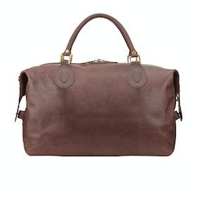 Barbour Leather Travel Explorer Duffle Bag - Dark Brown
