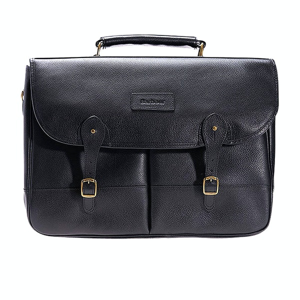 Barbour Leather Briefcase Messenger Bag