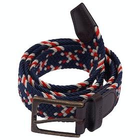 Barbour Ford Men's Web Belt - Red/navy/ecru