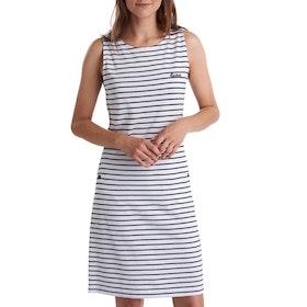 Barbour Dalmr Stripe Women's Dress - White Navy