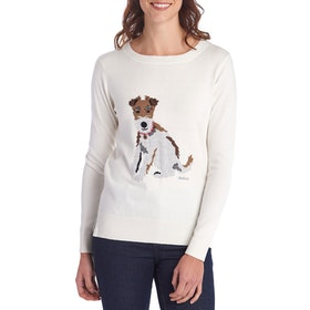 Barbour Housesteads Knit Women's Sweater - Off White
