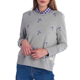 Barbour Summer Fell Overlayer Women's Sweater - Light Grey Marl