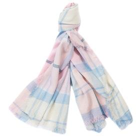 Barbour Freya Wrap Women's Scarf - Blossom Tartan