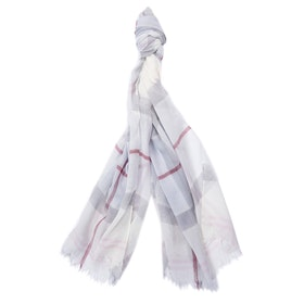 Barbour Summer Dress Wrap Women's Scarf - Platinum Tartan