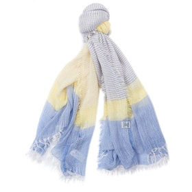 Barbour Whitmore Wrap Women's Scarf - Yellow Blue