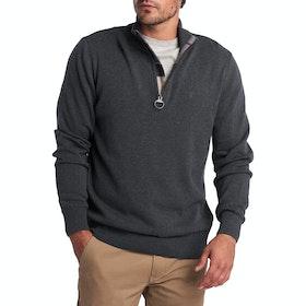 Barbour Cotton Half Zip Men's Sweater - Charcoal Marl