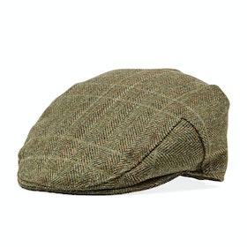 Barbour Crieff Flat Men's Cap - Olive Mixed Herringbone