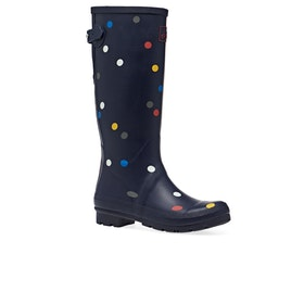 Joules Printed Womens Wellies - Navy Multi Spot