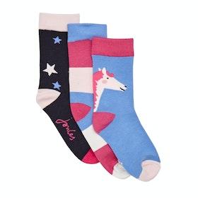 Joules Brilliant Bamboo Girl's Socks - Multi Horse