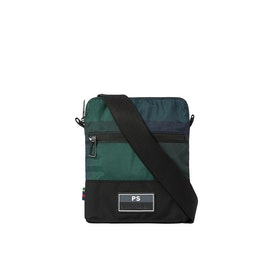 Paul Smith Check Nylon Messenger-Tasche - Dark Navy
