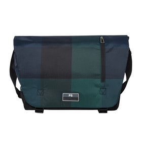 Paul Smith Check Nyl Messenger-Tasche - Dark Navy