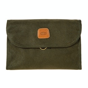 Brics Life Tri Fold Wash Bag - Olive