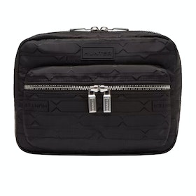 Hunter Refined Jacquard Crossbody Messenger-Tasche - Black
