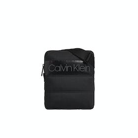 Calvin Klein Puffer Flat Messenger Bag - Black