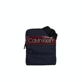 Calvin Klein Puffer Flat Messenger Bag - Navy