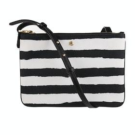 Borsa a Mano Donna Lauren Ralph Lauren Carter 26 Crossbody - Black White Painted Stripe