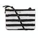 Black White Painted Stripe