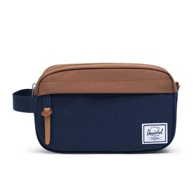 Herschel Chapter Carry On Wash Bag - Peacoat Saddle Brown