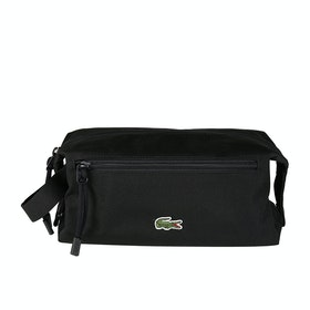 Lacoste 1 Zip Pocket Kit Wash Bag - Black