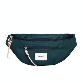 Sandqvist Aste Gürteltasche - Dark Green With Natural Leather