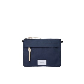 Sandqvist Ludvig Messenger-Tasche - Navy With Natural Leather