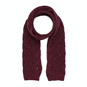 Dents Lace Marl Damen Schal - Claret