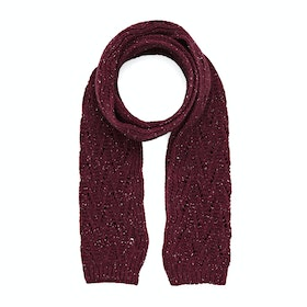 Dents Lace Marl Women's Scarf - Claret