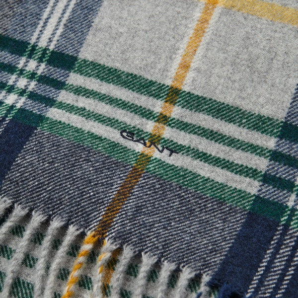 Gant Twill Checked Wool Scarf