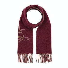 Шарф Vivienne Westwood Scribble Orb - Bordeaux