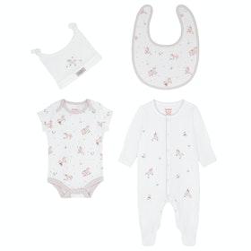 Cath Kidston 4pk Baby Starter Set Kid's Baby Grow - Ivory