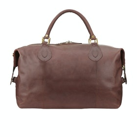 Barbour Leather Travel Explorer Duffle Bag - Dark Brown