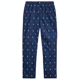 Piżama Polo Ralph Lauren Cotton Jersey Sleep Pant - Cruise Navy Aopp Red/White