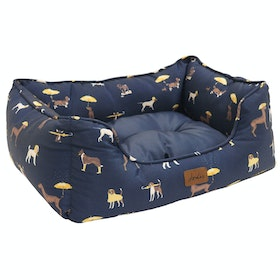 Joules Box Dog Bed - Dog Print